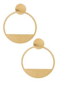 Geo Circle Earrings