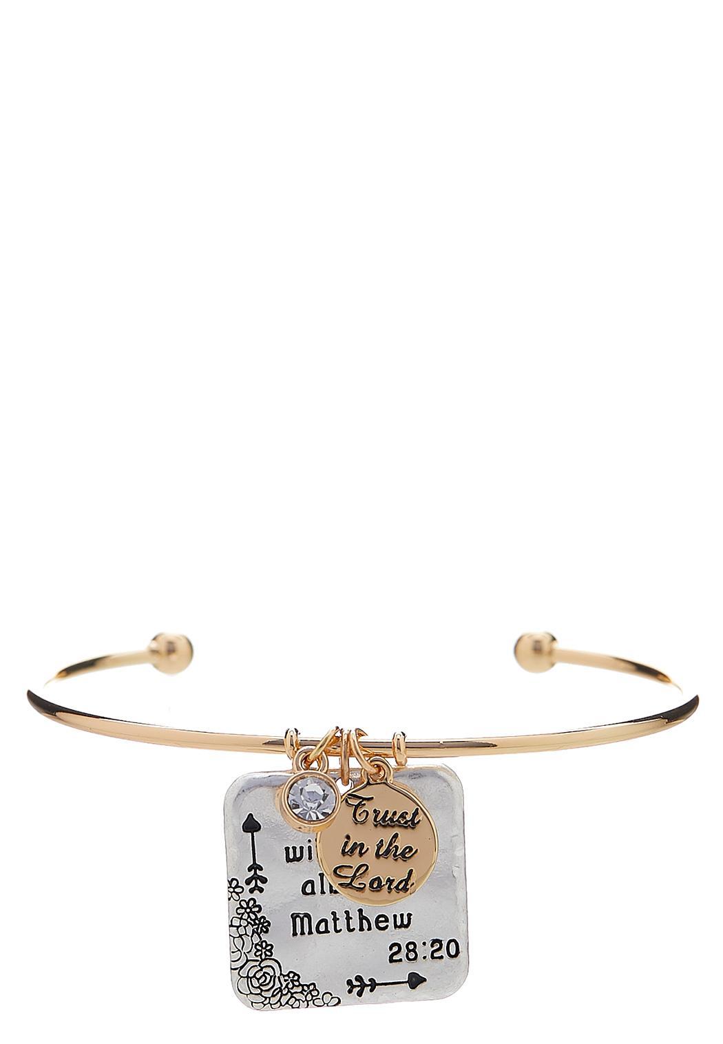 Inspirational Charm Cuff Bracelet