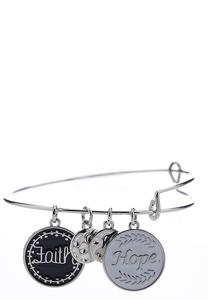 Hope And Faith Charm Bracelet