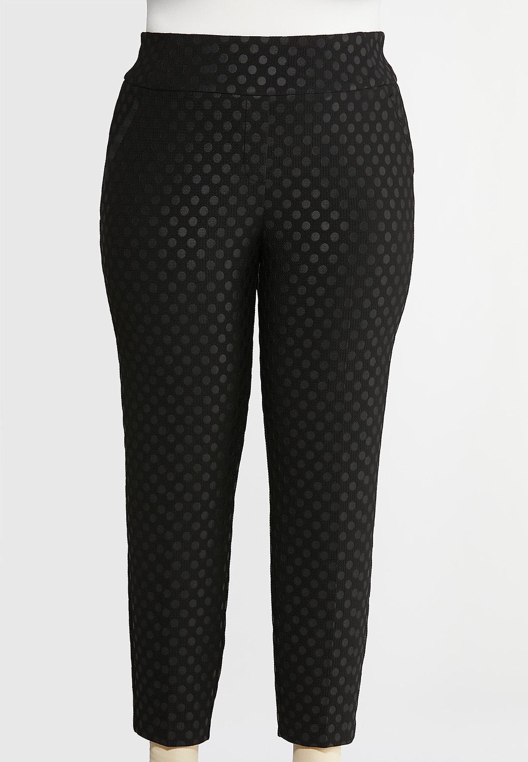 Plus Size Dotted Knit Pants