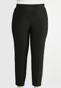 Plus Size Dotted Knit Pants