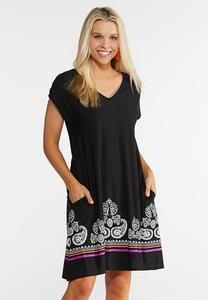 Paisley Pocket Swing Dress
