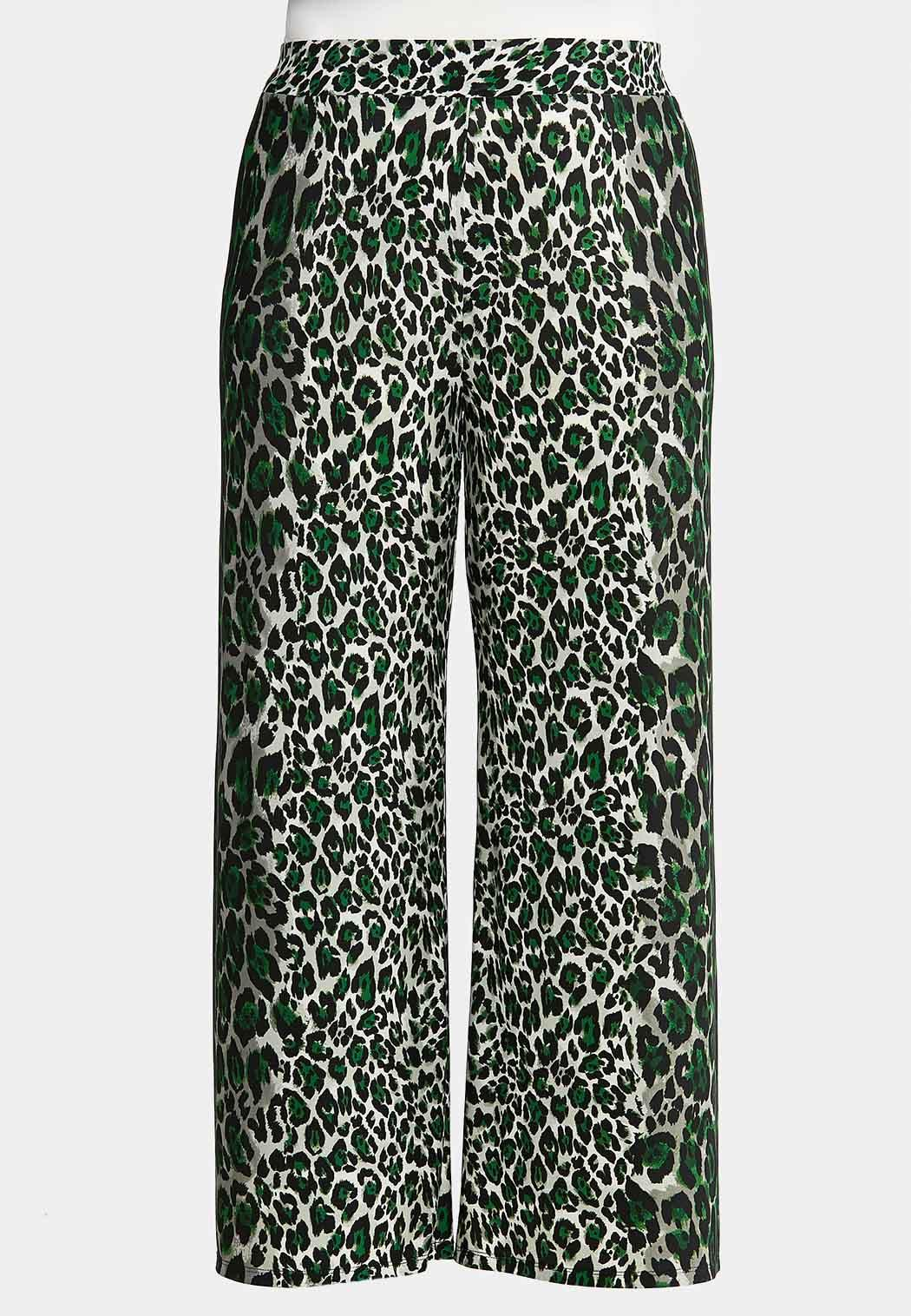 Plus Size Leopard Palazzo Pants