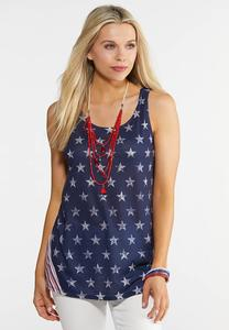 Plus Size Stars And Stripes Tank