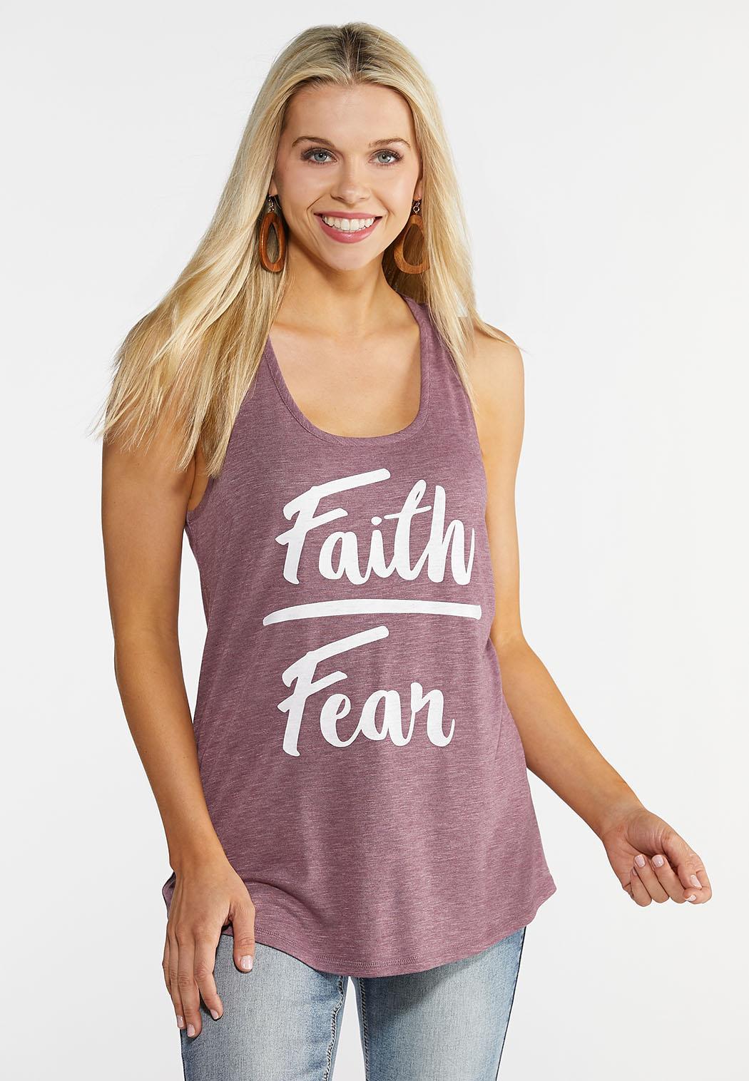 Plus Size Faith Over Fear Tank