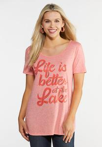 Plus Size Life at the Lake Tee