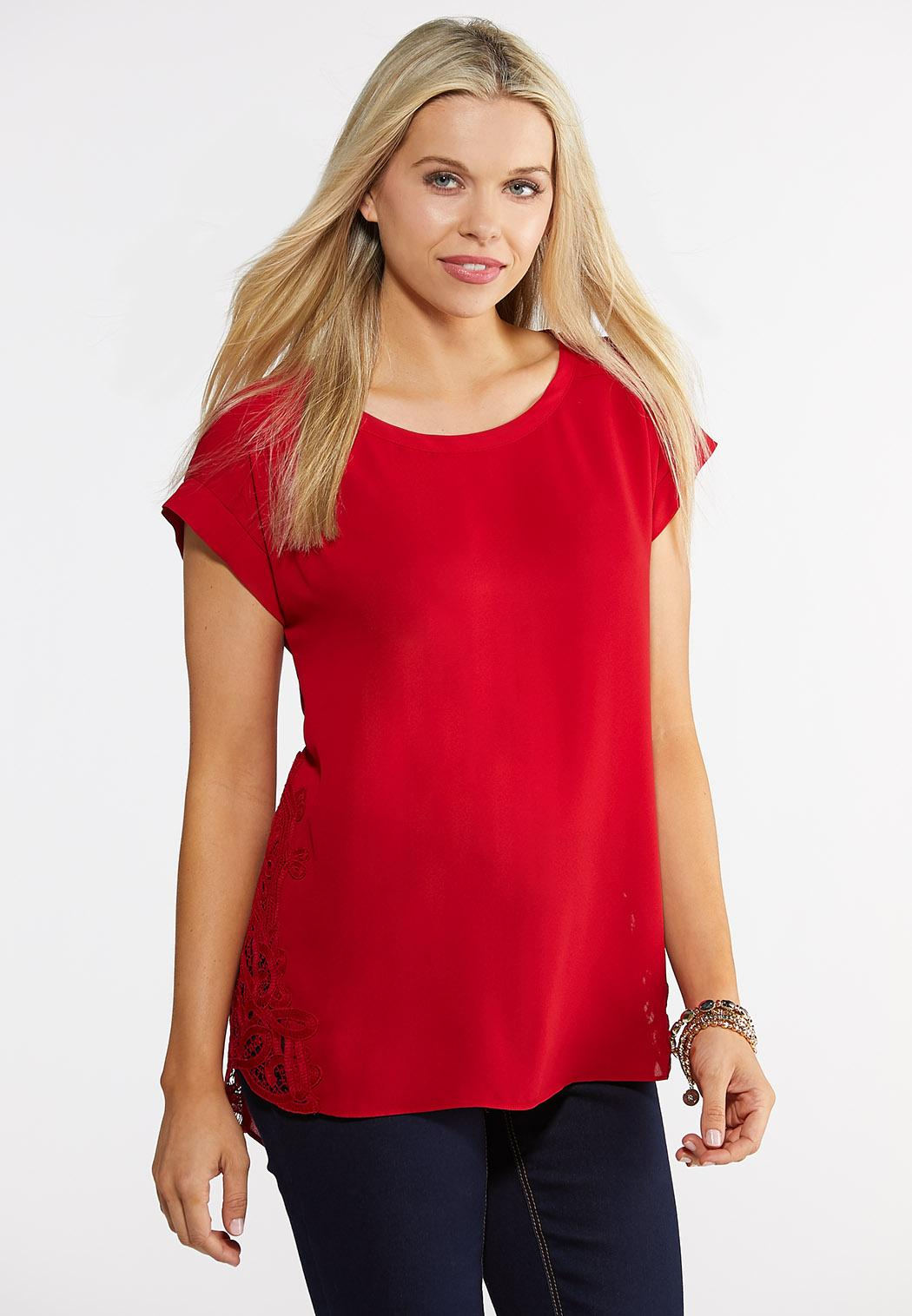 Lace Woven Top