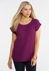 Plus Size Lace Woven Top