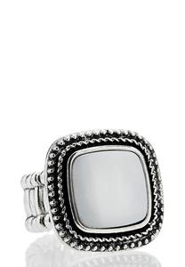 Halo Antique Silver Ring