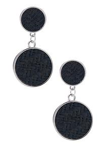 Woven Linear Disc Earrings