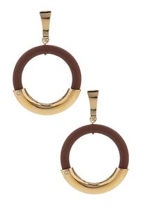 Two-Tone Circular Earrings