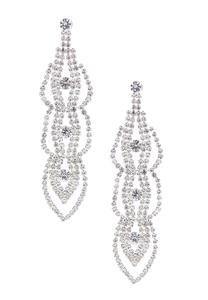Glitzy Stone Statement Earrings