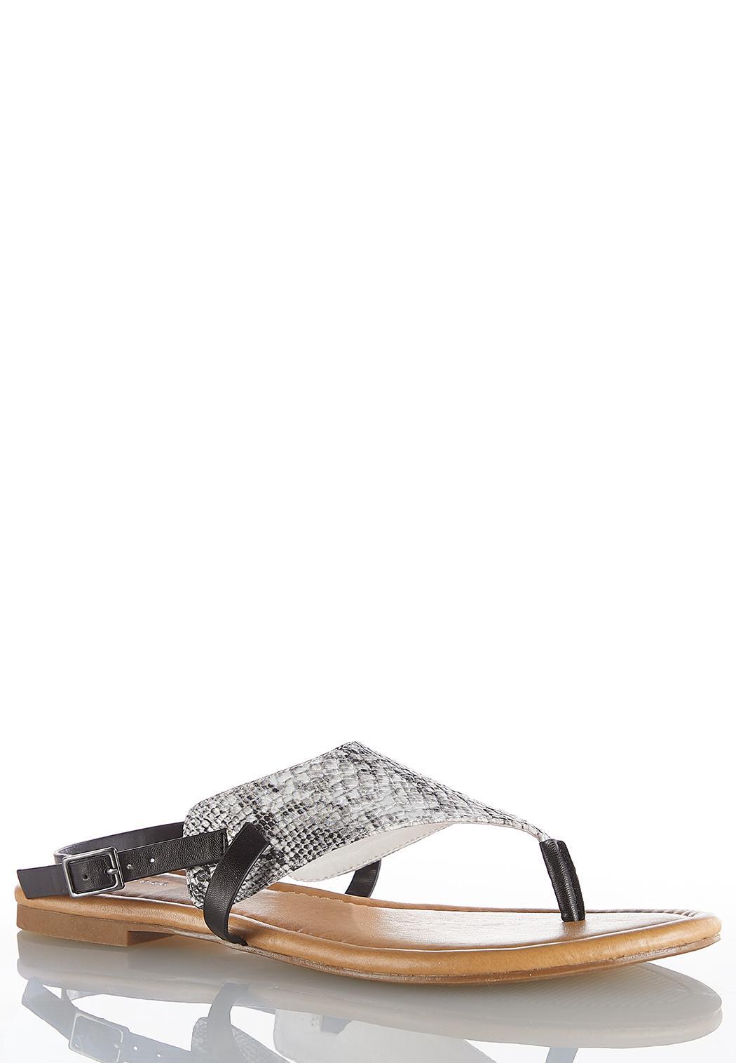 Snakeskin Shield Sandals