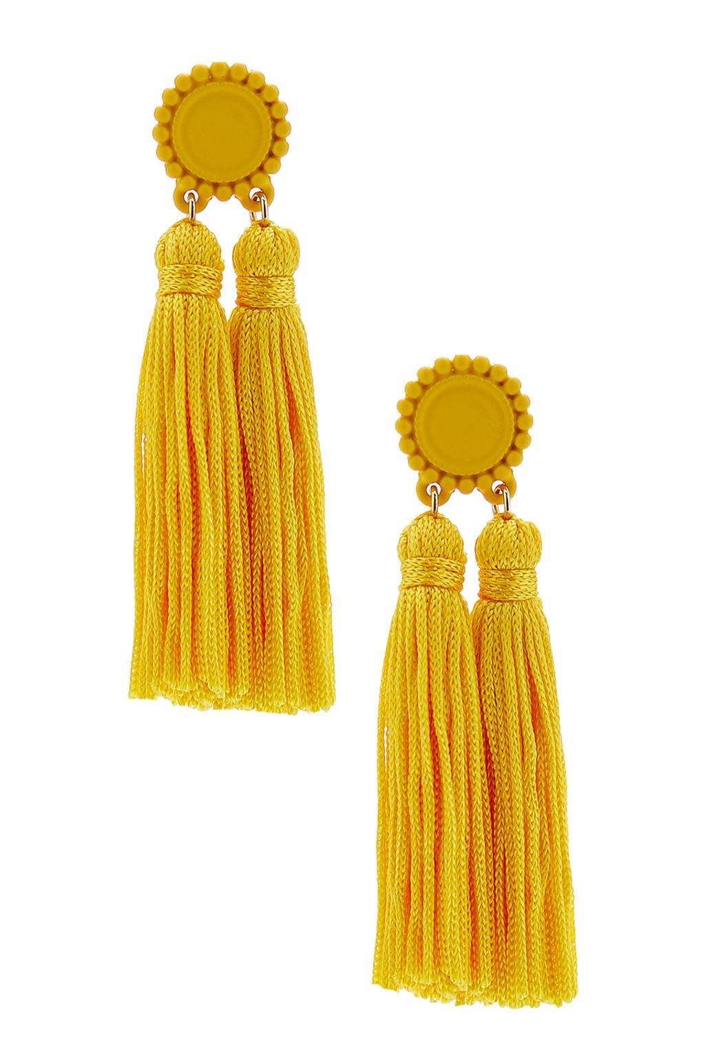 Double Tassel Post Earrings