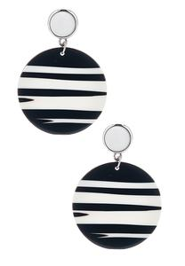 Zebra Lucite Dangle Earrings