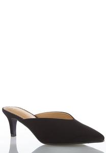 Wide Width Pointy Toe Heeled Mules