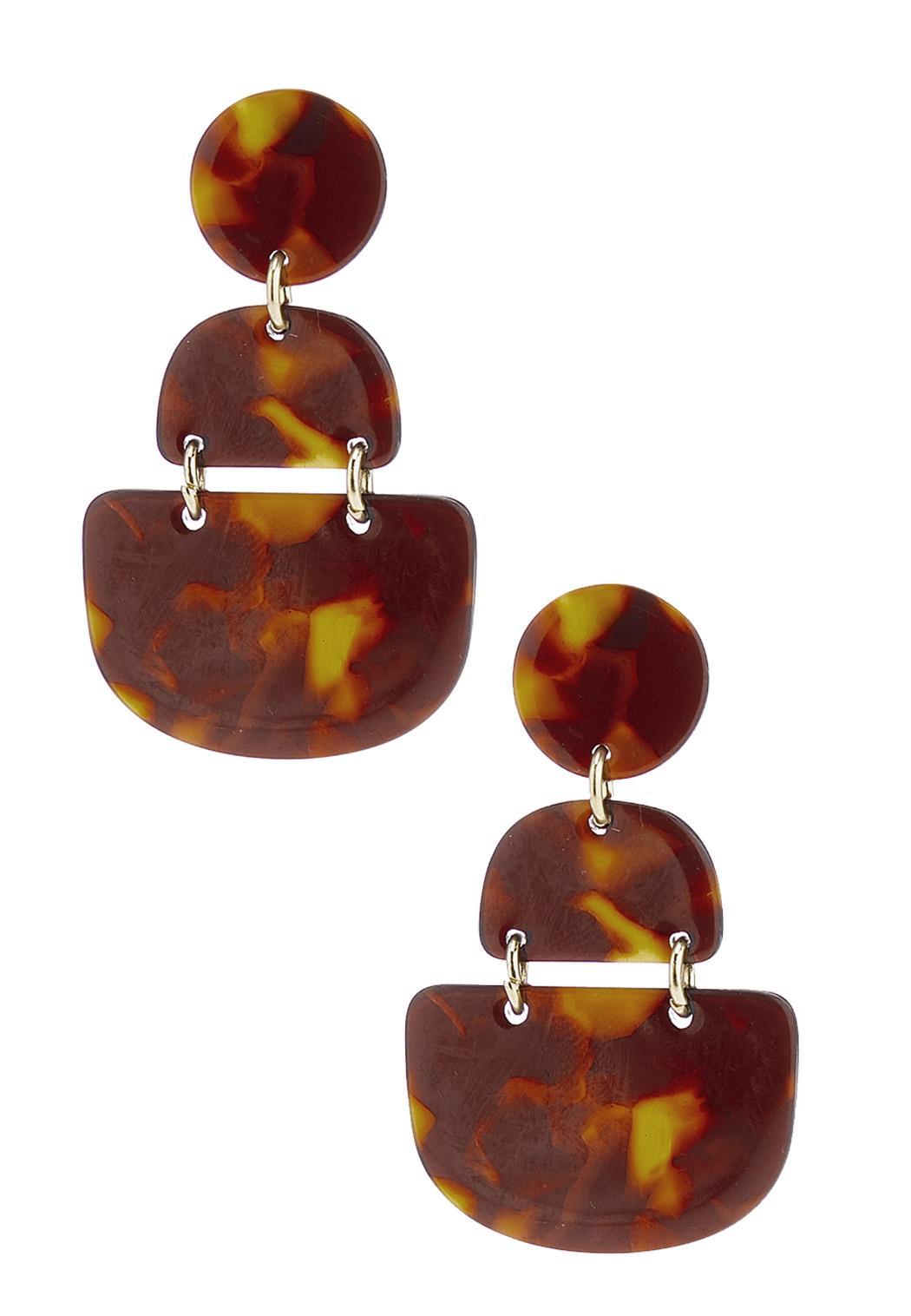 Acrylic Tortoise Shell Earrings