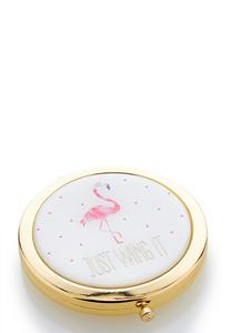 Flamingo Compact Mirror