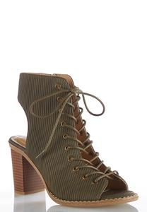 Ribbed Lace Up Shooties