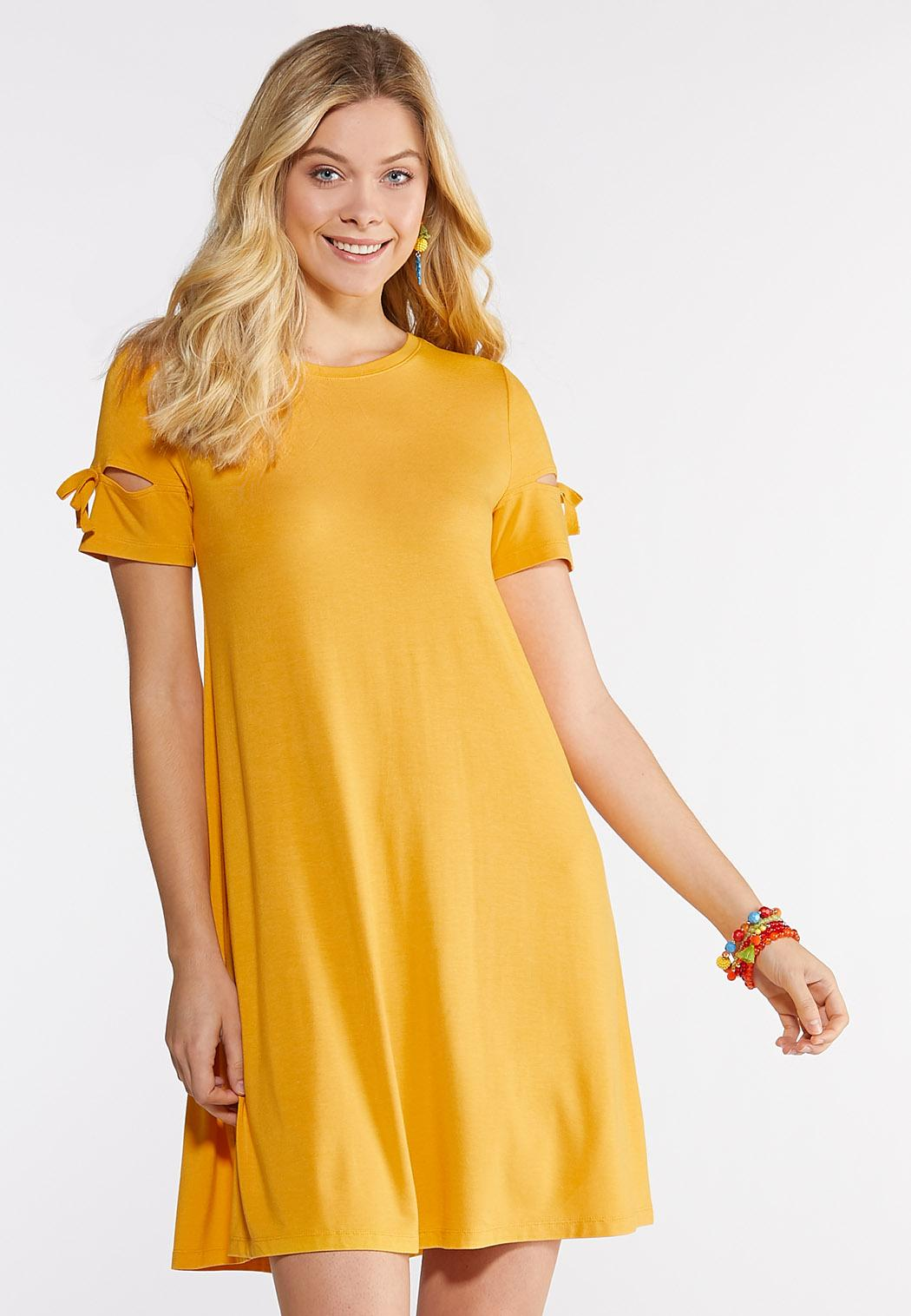 Plus Size Tie Sleeve Swing Dress Dresses Cato Fashions
