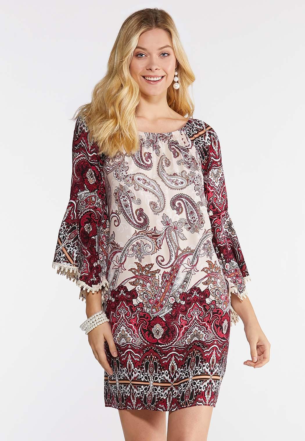 Plus Size Crochet Trim Peasant Dress Dresses Cato Fashions