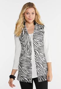 Knit Zebra Vest