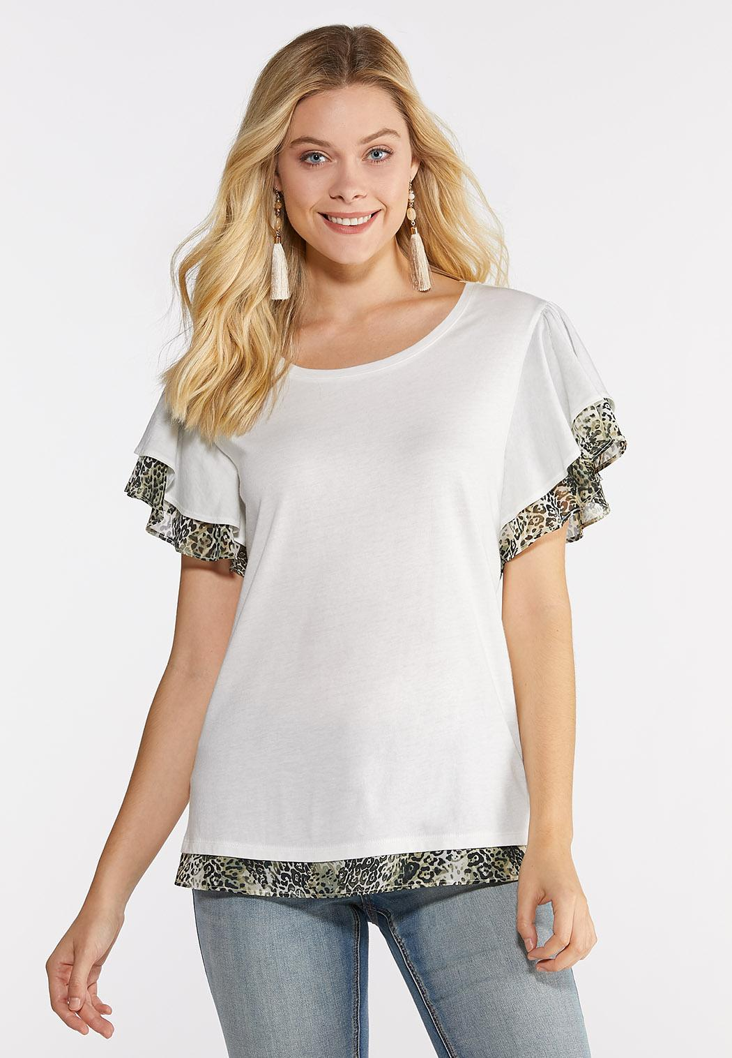 2680298ad02 Flutter Sleeve Layered Tee alternate view Flutter Sleeve Layered Tee
