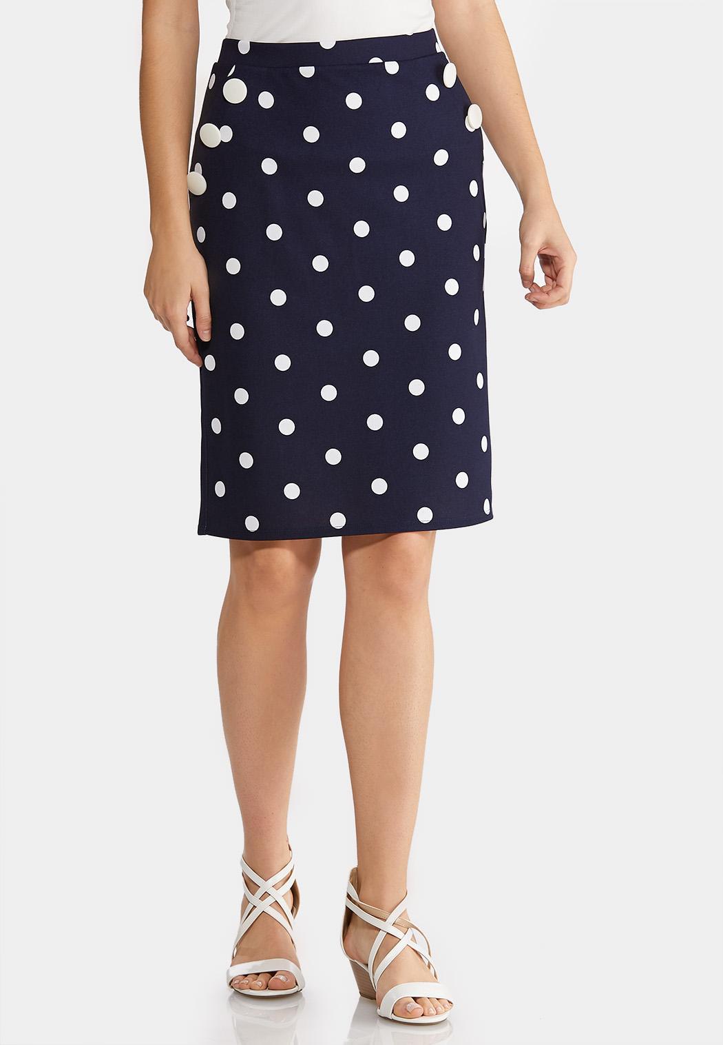 35bb97c9e8 Polka Dot Pencil Skirt alternate view Polka Dot Pencil Skirt