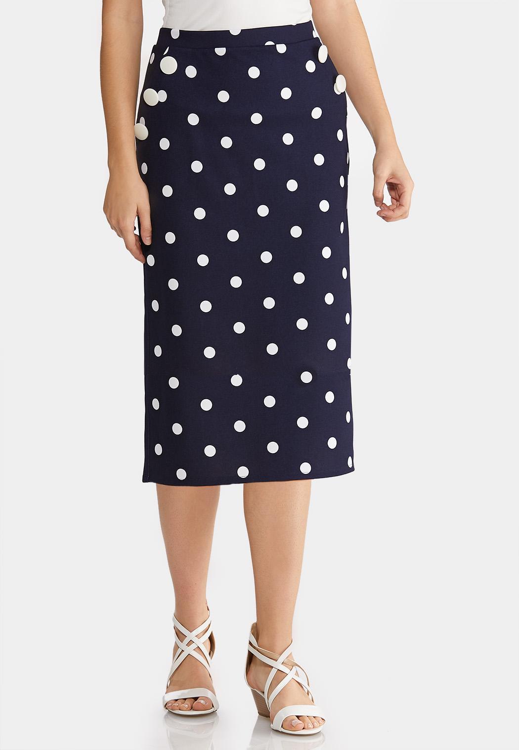 b04a03fbfc Plus Size Polka Dot Pencil Skirt Skirts Cato Fashions