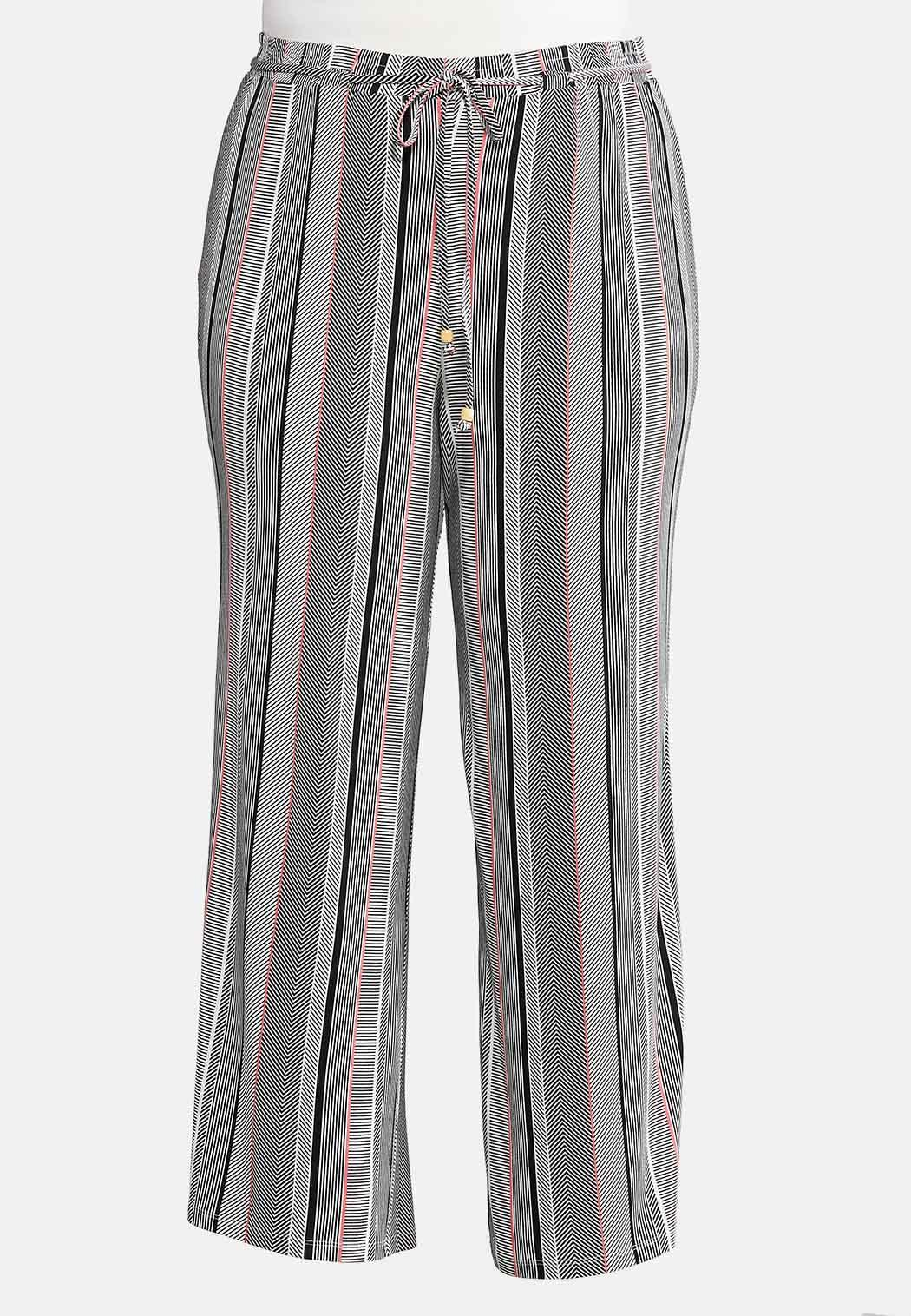 Plus Petite Mod Stripe Palazzo Pants