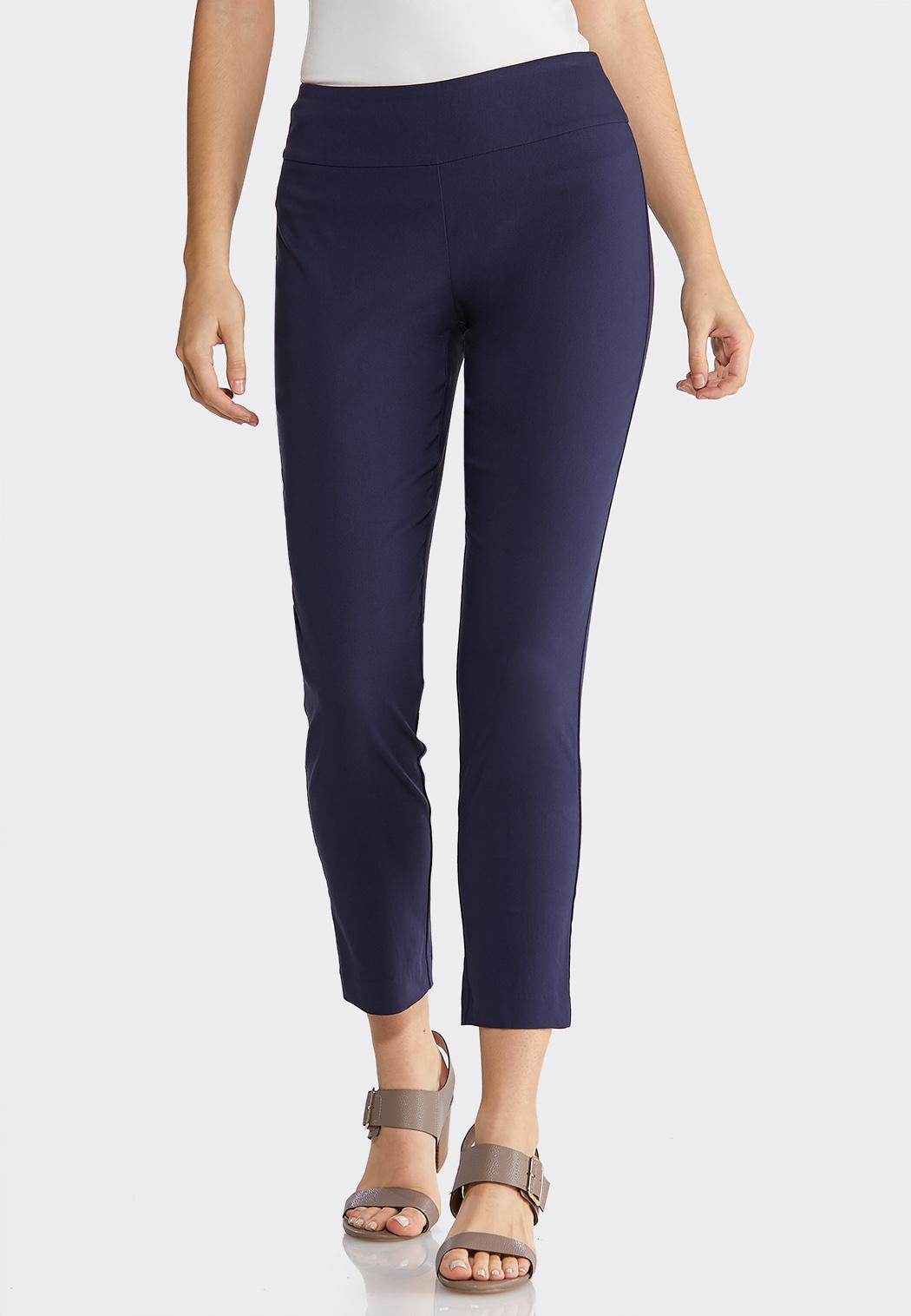 Twill Slim Ankle Pants