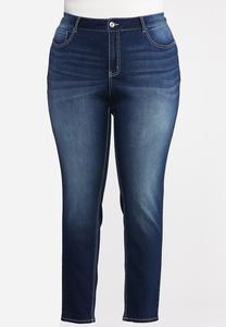 Plus Petite Dark Wash Jeggings
