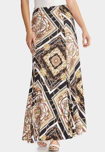 Plus Size Status Maxi Skirt