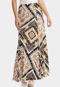 Plus Size Status Maxi Skirt