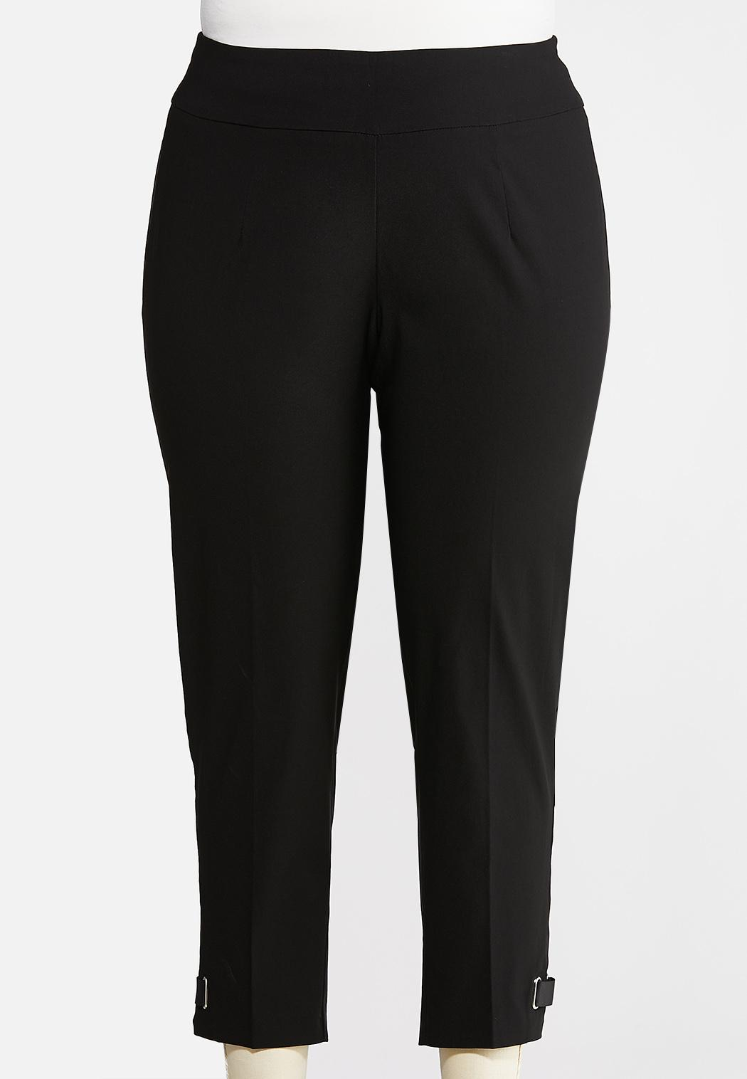 Plus Size Cropped Ribbon Pants