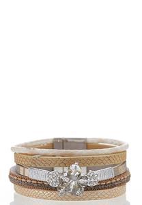 Multi Strap Magnetic Wrap Bracelet