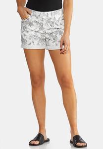 Sketchy Floral Shorts