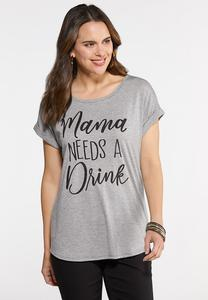 Plus Size Mama Needs A Drink Tee
