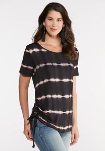 5648c54c599add Plus Size Ruched Tie Dye Top