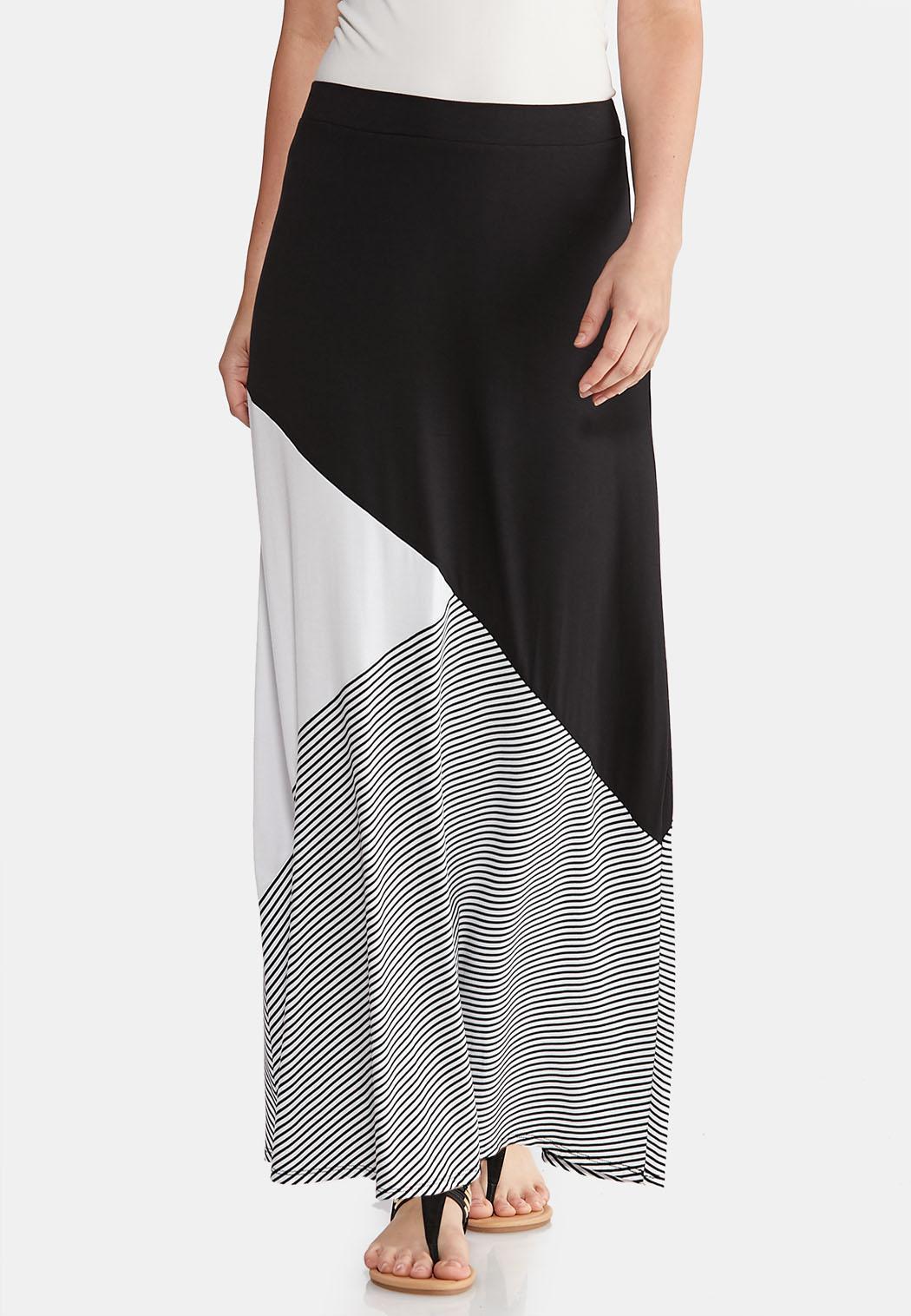 Colorblock Maxi Skirt