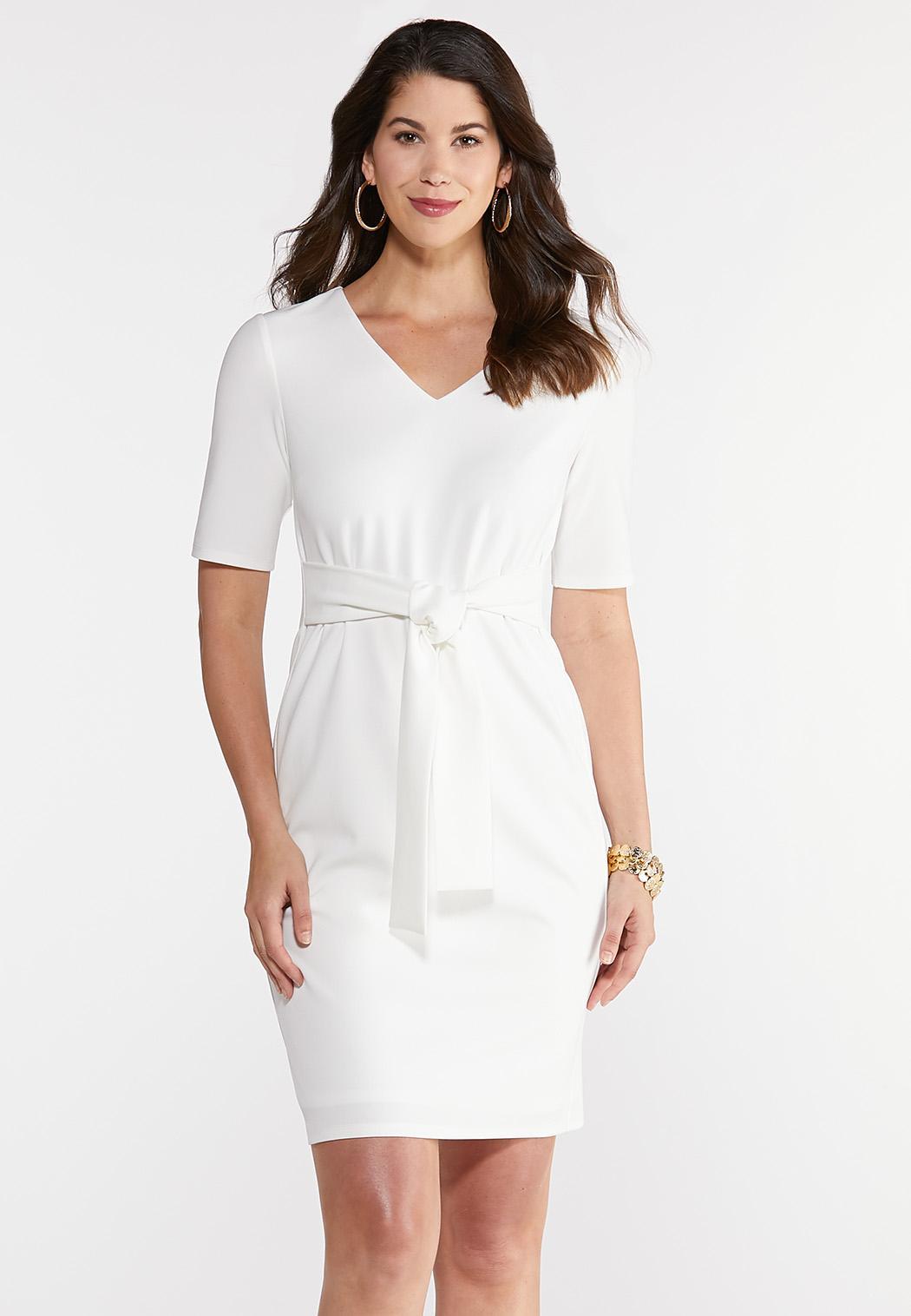 Plus Size Front Knot Sheath Dress
