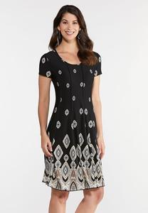 Seamed Diamond Medallion Dress