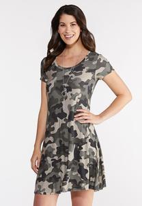 Plus Size Camo Swing Dress