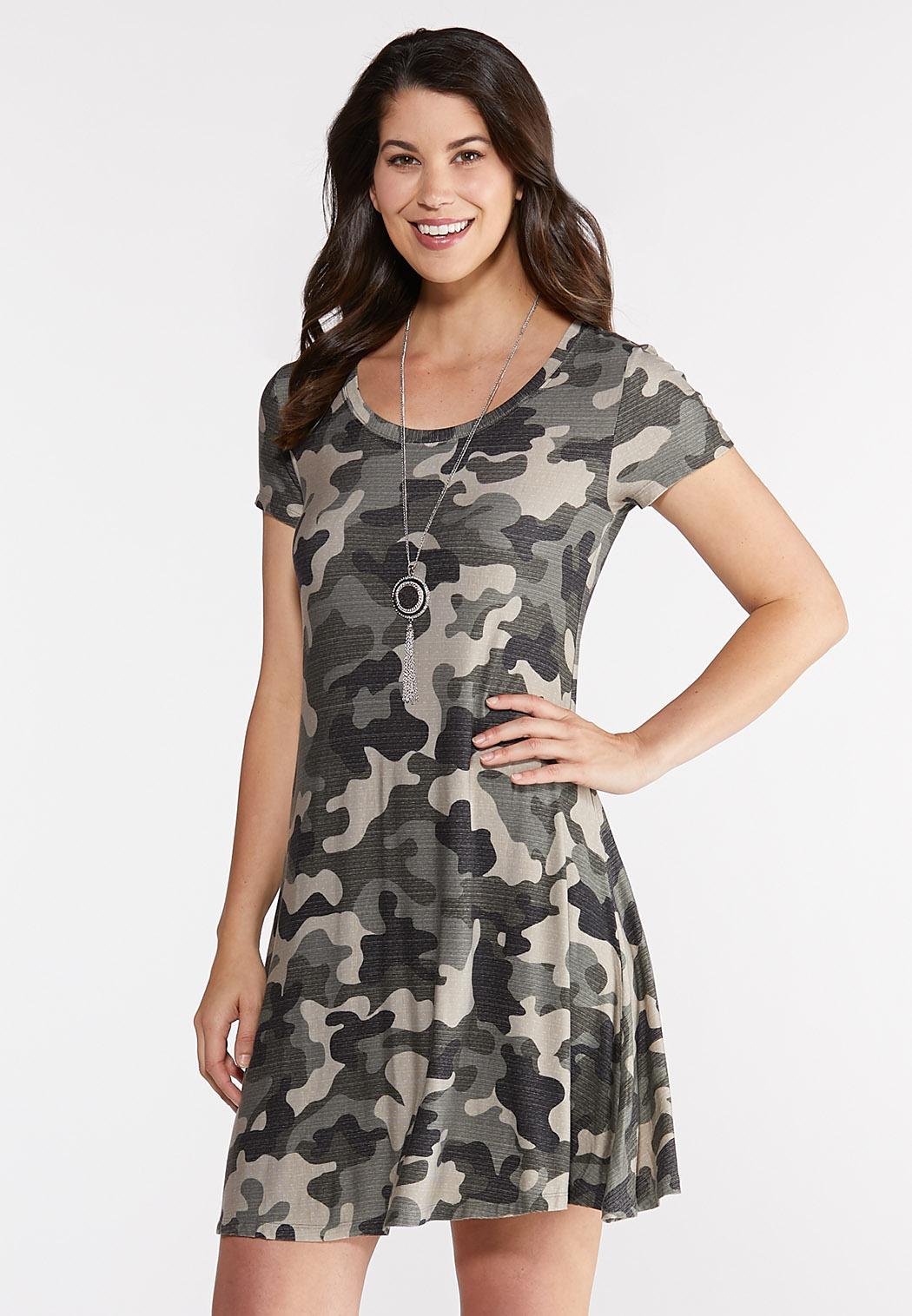 85bbb3cb13468 Plus Size Camo Swing Dress A-line & Swing Cato Fashions