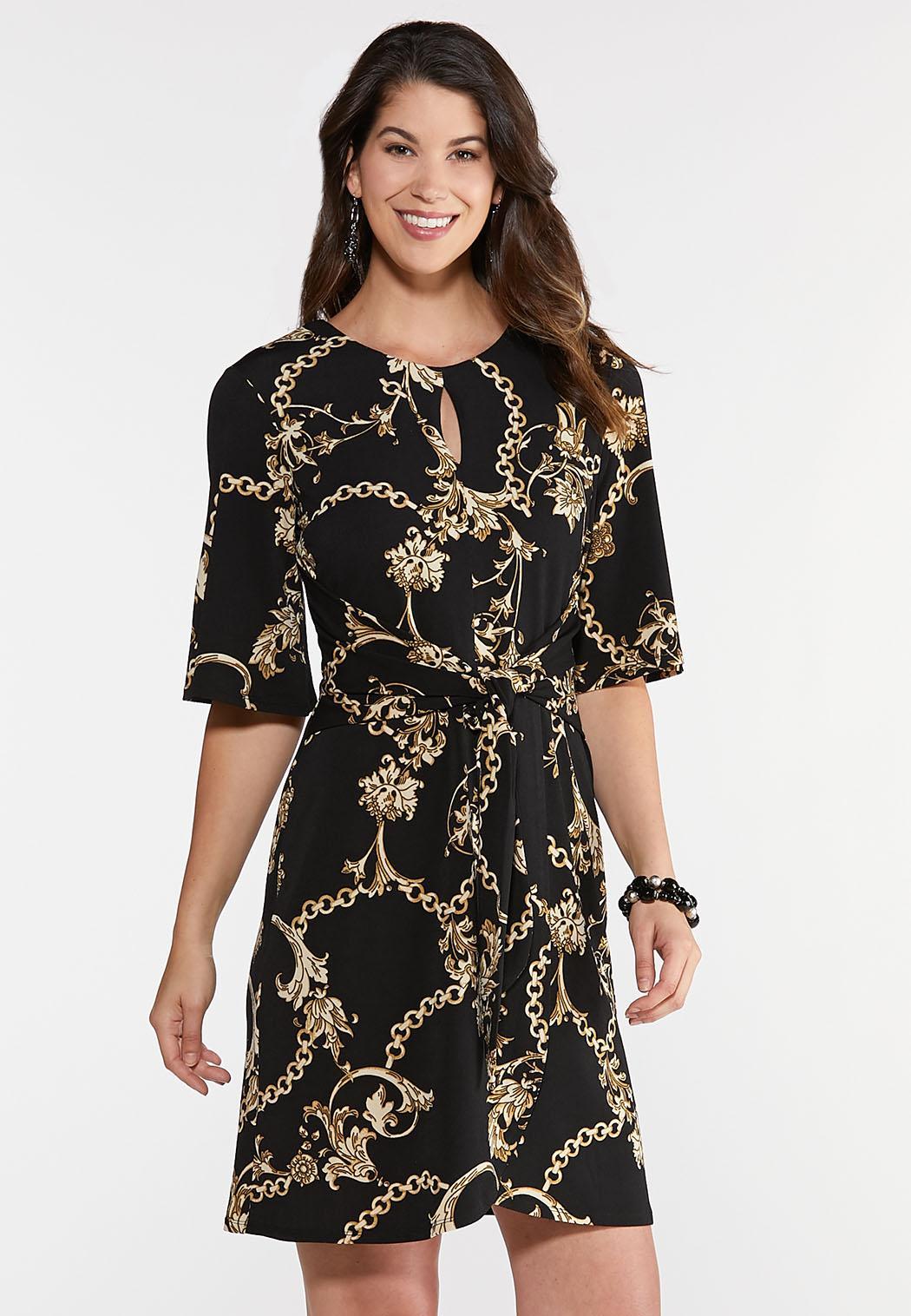 Plus Size Status Print Wrap Dress Plus Sizes Cato Fashions