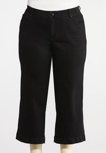 Plus Size Cropped Wide Leg Pants