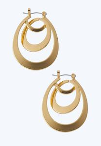 Multi Hoop Gold Earrings