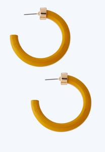 Open Back Wood Hoop Earrings