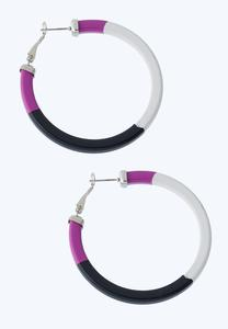 Triple Tone Hoop Earrings