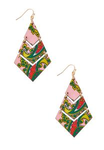 Multi Printed Geo Earrings